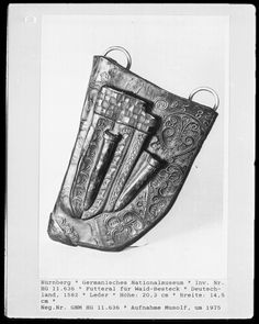 A leather case for knives, Germany, 1582