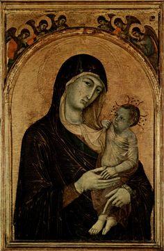 Duccio di Buoninsegna ~ Madonna with Angels, 1300-05 (tempera on panel)