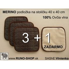 Merino wool Chair pad / Podložka na stoličku 100% MERINO ovčia vlna