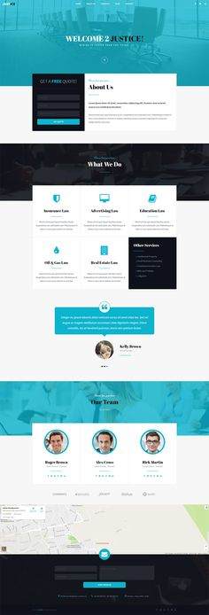 Amazing responsive 7in1 #WordPress theme for #Legal Advisers, Legal ...