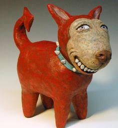 Contemporary Sculpture - Devil Dog (Original Art from Laura Lloyd)
