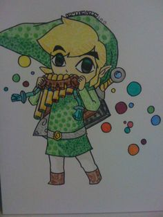 Adorable Toon Link by Lauren-the-Lyon on DeviantArt The Legend Of Zelda, Zelda Tattoo, Nintendo, Z Arts, Sharpie, Lyon, Colored Pencils, Spirit, Deviantart