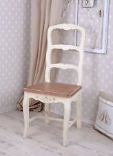 Vintage Chair Shabby Chic Dining Room Chair White Wooden Chair Country House