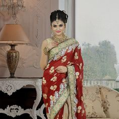 Stunning bridal sarees in a variety of designs. Choose from a vast bridal sarees collection or pick your favorite bridal lehenga in gorgeous colors and bespoke fabrics. Saree Collection, Bridal Collection, Bridal Sarees Online, Indian Bridal Wear, Blouse Online, Bridal Lehenga, Cotton Saree, Maroon Saree, Saris
