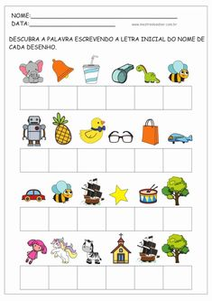 Abc Phonics, Phonics Worksheets, Preschool Learning, Preschool Activities, English Words, Speech And Language, Pre School, Projects For Kids, Literacy