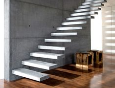 Utah's first choice for precast concrete stair treads. Deck Stair Lights, Staircase Outdoor, Luxury Staircase, Staircase Railings, Staircase Design, Bespoke Staircases, Tile Stairs, Flooring For Stairs, Concrete Stairs