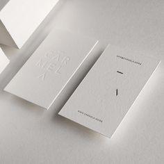 CARMELA's identity and business card design #cottonpaper #letterpress