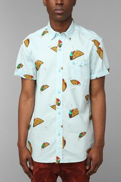 Urban Outfitters The Taco Buttondown Shirt in Blue for Men | Lyst