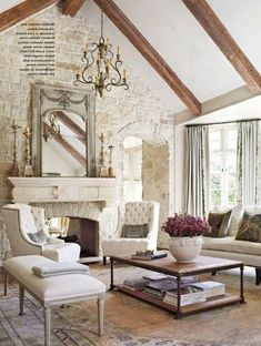 38+ Wonderful French Country Living Room Decor Ideas #livingroom #livingroomdecor #livingroomdecorideas