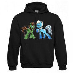 """Kapuzen Sweatshirt """"Frozen Ponys"""" Fruit of the Loom, Beuteltasche, 80% Baumwolle"""