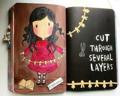 Wreck this journal   cut several layers