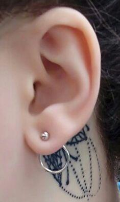 Minimal Ring Ear Piercing Ideas - Simple Minimalistic Hoop Ring Circle Modern Ear Jacket Earrings - simple aro aretes chaqueta - www.MyBodiArt.com