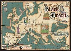 Map of the Black Death.