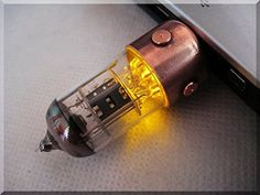 Steampunk/Industrial modified USB flash drive. Real copper results in a great texture with beautiful oxidation.