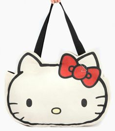 Hello Kitty Canvas Tote Bag  Red Bow - x x - maximum drop length - Cotton  canvas - Polyester lining 611dc53244