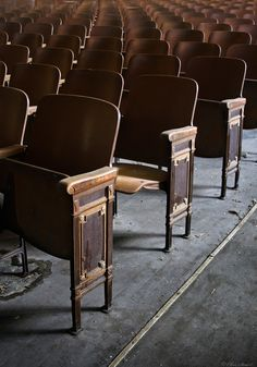 Assemblies in the Auditorium ~ This is a theatre in an abandoned elementary school in North Carolina.