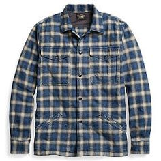 Hunting Jackets, Flannels, Indigo, Brushes, Ralph Lauren, Weaving, Plaid,  Hunting Coats, Closure Weave