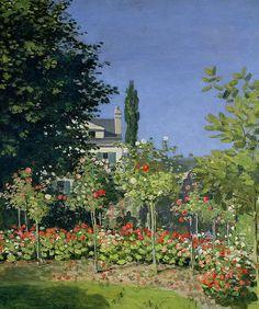 Garden in Bloom at Sainte-Addresse Claude Monet