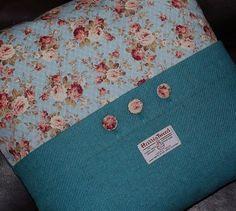 Harris tweed cushion cover idea