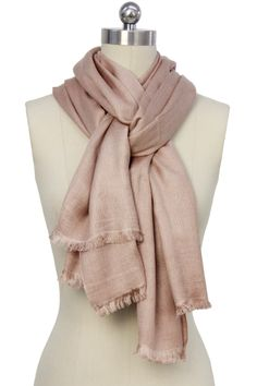 Beige Luxurious Cashmere & Silk Blend Wrap by Saachi on @HauteLook