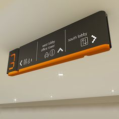 Ceiling mounted signs