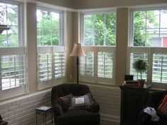 window shutters Thanks stuff-for-jim o. Cafe Style Shutters, Cafe Window, Interior Design Institute, Drapery Designs, Window Shutters, Shades Blinds, House Windows, Curtains With Blinds, Window Coverings