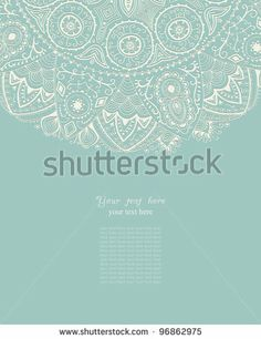 Blue Vintage Background With Indian Ornament Stock Vector