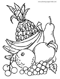 fruit color page, Fruits coloring pages, color plate, coloring sheet,printable coloring picture