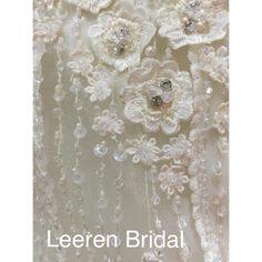 #flower #embroidery #beading #pearl #detailing #wedding #weddingdress #fashion #style