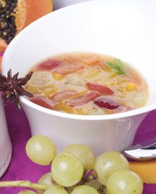 wine and fruit soup