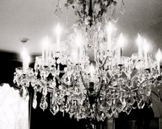such a cool shot! LOVE chandeliers!