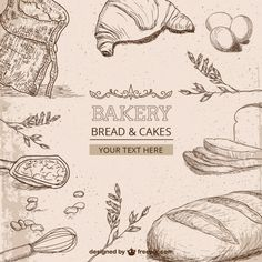 Bakery drawings Free Vector