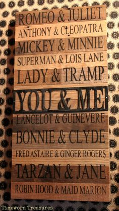 Reclaimed wooden you & me sign. Valentine's Day gift. Cute sign for the one you love. Lots of others to choose from. Timeworn Treasures | Danville, PA