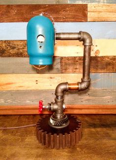 Steampunk Pipe Lamp by TheCleverRaven on Etsy