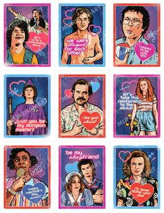 The 2020 Stranger Things Season 3 Valentine's Day Card Pack is perfect for sharing with your loved ones, friends and coworkers on. Stranger Things Fotos, Stranger Things Quote, Stranger Things Season 3, Stranger Things Aesthetic, Eleven Stranger Things, Stranger Things Netflix, Stranger Things Merchandise, Aesthetic Stickers, Favorite Tv Shows