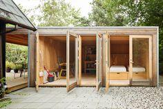 Backyard Cabin, Writing Studio, Tiny House Cabin, Tiny Houses, Garden Studio, Potting Sheds, Facade, Outdoor Structures, House Design