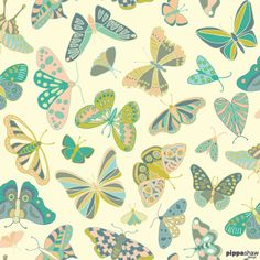 Mariposa by Pippa Shaw pippashaw.com repeat pattern, textile design, surface pattern design, butterflies