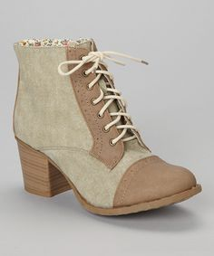 Another great find on #zulily! Bucco Sand Kortnea Perforated Lace-Up Boot by Bucco #zulilyfinds