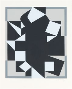 Victor Vasarely - No Title, silkscreen on paper