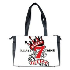Diaper Bag available online at www.cafepress.com/lucky7tattooandpiercing