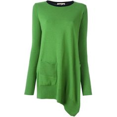 Hache oversized jumper ($545) ❤ liked on Polyvore featuring tops, sweaters, green, green jumper, jumpers sweaters, oversized jumper, over sized sweaters and jumper top