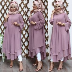 Long Dress Fashion, Modern Hijab Fashion, Modesty Fashion, Hijab Fashion Inspiration, Abaya Fashion, Muslim Fashion, Fashion Dresses, Turkish Hijab Style, Hijab Evening Dress