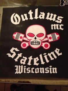 In 1935 the McCook Outlaws Motorcycle Club was established out of Matilda`s Bar on old Route 66 in McCook, Illinois, just outside of Chicago. Biker Clubs, Motorcycle Clubs, Motocross Logo, Outlaws Motorcycle Club, Old Route 66, Biker Quotes, American Legend, Harley Bikes, Cycling Art