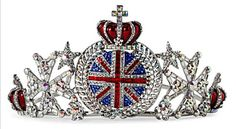 BUTLER & WILSON Union Jack Crown Tiara