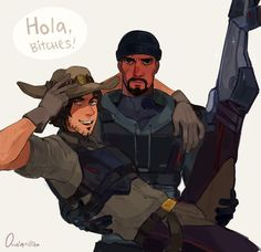 MCCREE IS GAY <<< hella gay, but personally I don't ship him with Gabe. I see it as more of a father/son relationship.