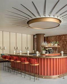 CAFÉ HOLT AT HOLT RENFREW OGILVY MONTRÉAL – CANADA – Laplace Back Bar Design, Design Lounge, Bar Counter Design, Bar Lounge, Bar Interior Design, Cafe Interior, Interior Exterior, Interior Design Inspiration, Design Ideas