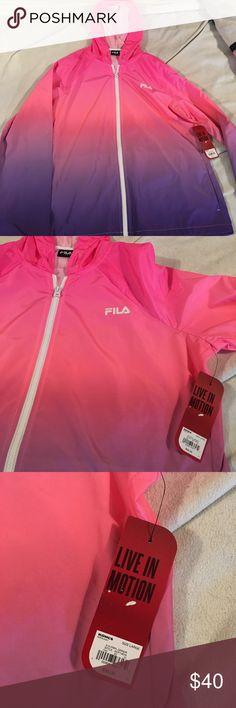 FILA Pink & Purple Windbreaker NWT FILA Pink & Purple Windbreaker NWT - Large Fila Jackets & Coats