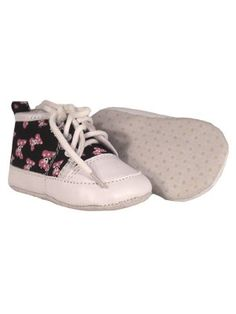 Rock Daddy Skull Bow Baby Shoes - £5.99