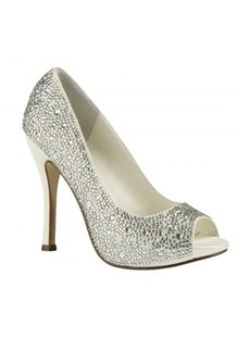 Top Quality Sparkling Glitter Upper Stiletto Heel Peep Toes Wedding Prom Shoes$89.59