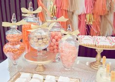 Peach Pink and White Candy  http://www.littlesooti.com.au